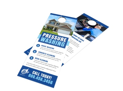 Cool Pressure Washing Door Hanger Template preview