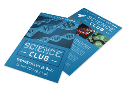 Science Club Flyer Template preview