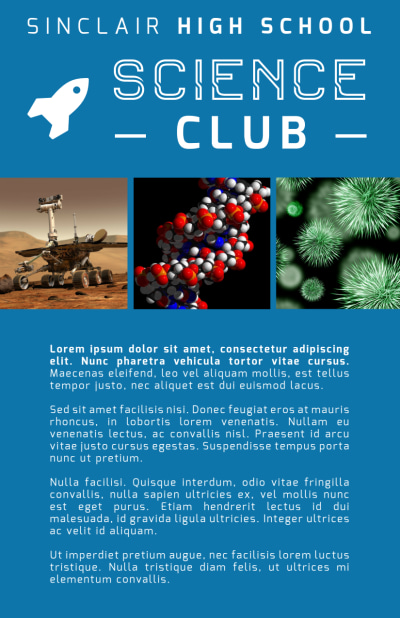 Science Club Flyer Template Preview 2