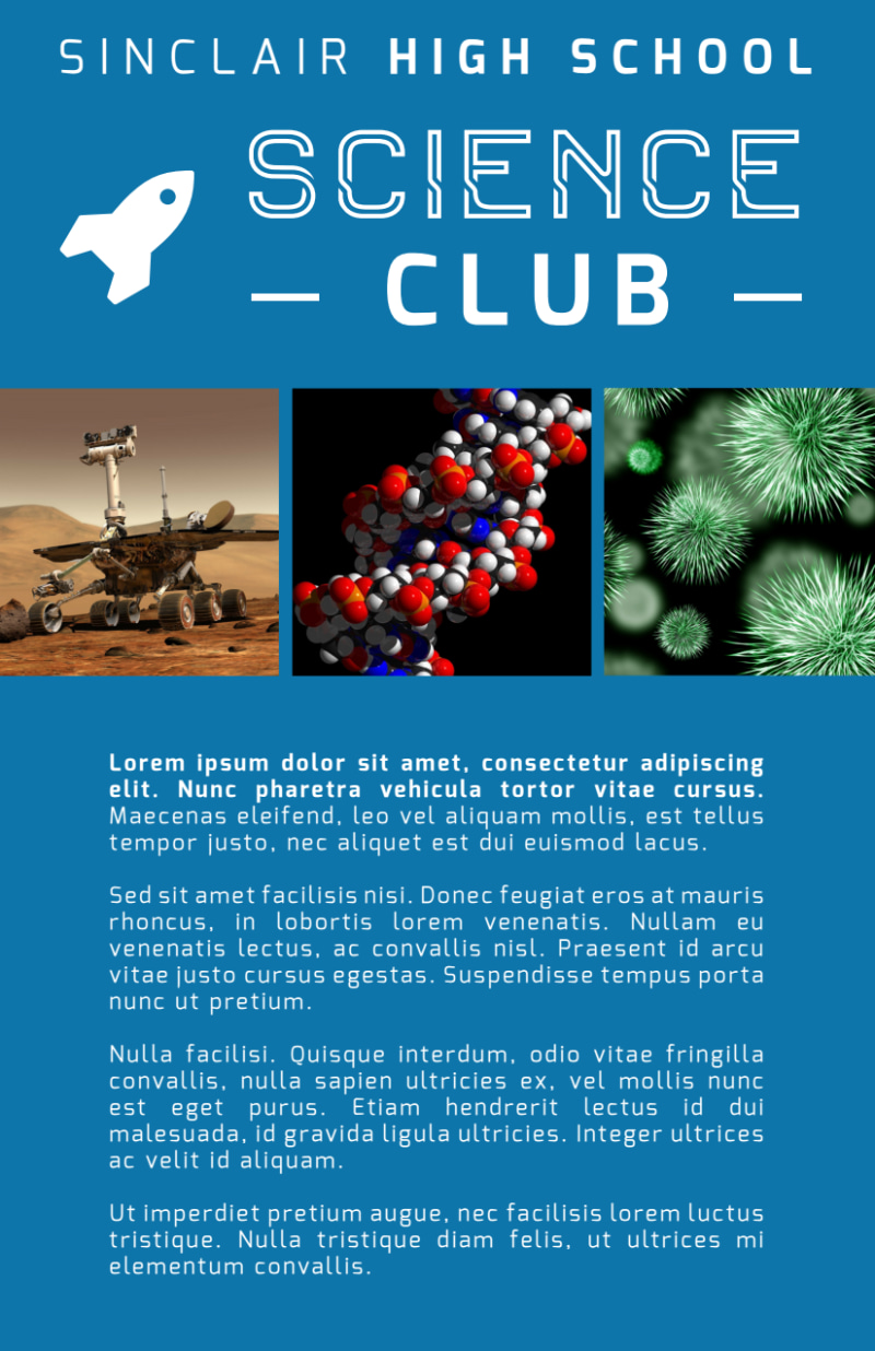 Science Club Flyer Template Preview 3