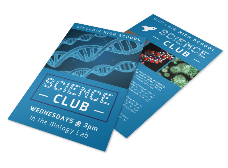 Science Club Flyer Template Preview 1