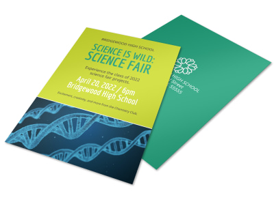 School Science Club Flyer Template preview