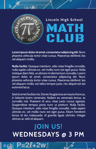 Math Club Flyer Template Preview 2