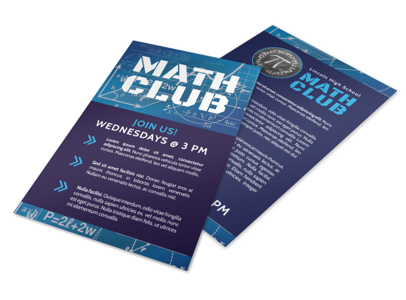 Math Club Flyer Template Preview 1