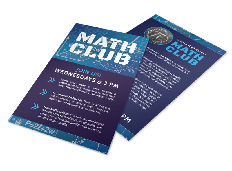 Math Club Flyer Template Preview 4