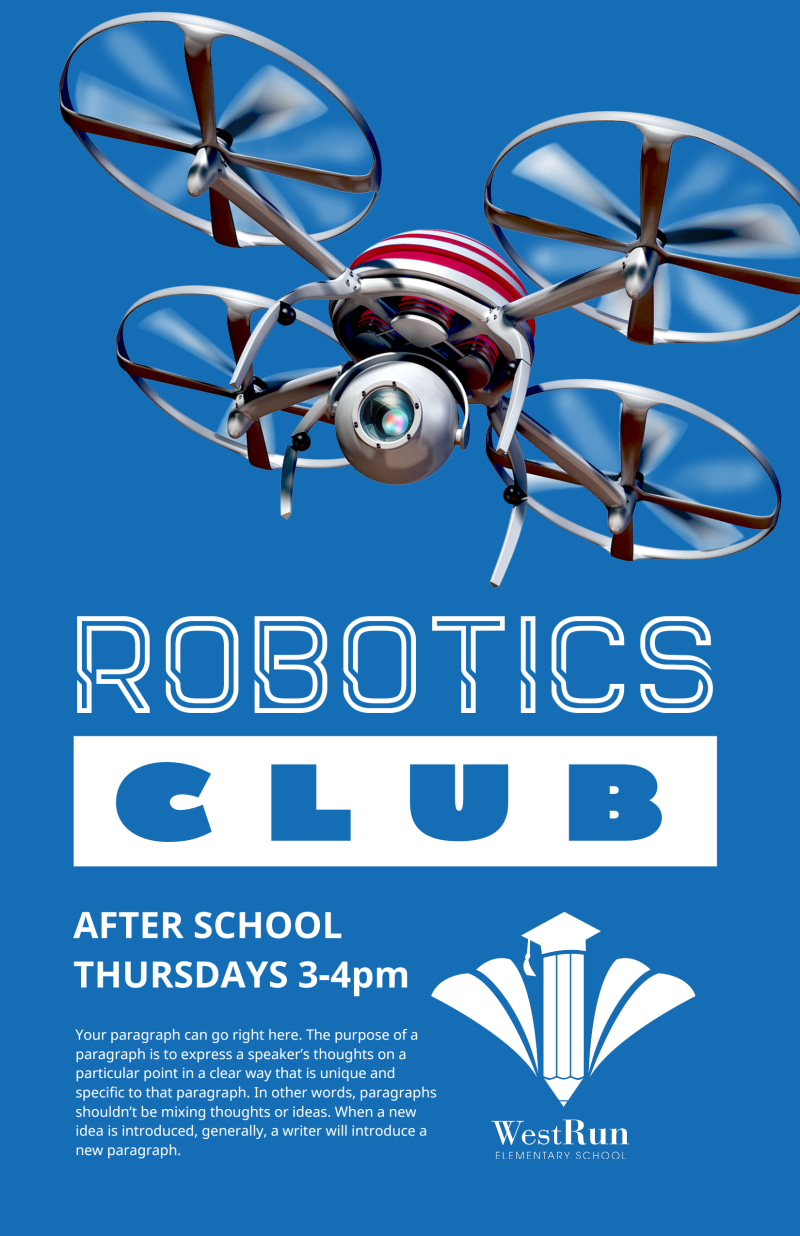 Robotics Club Poster Template Preview 2