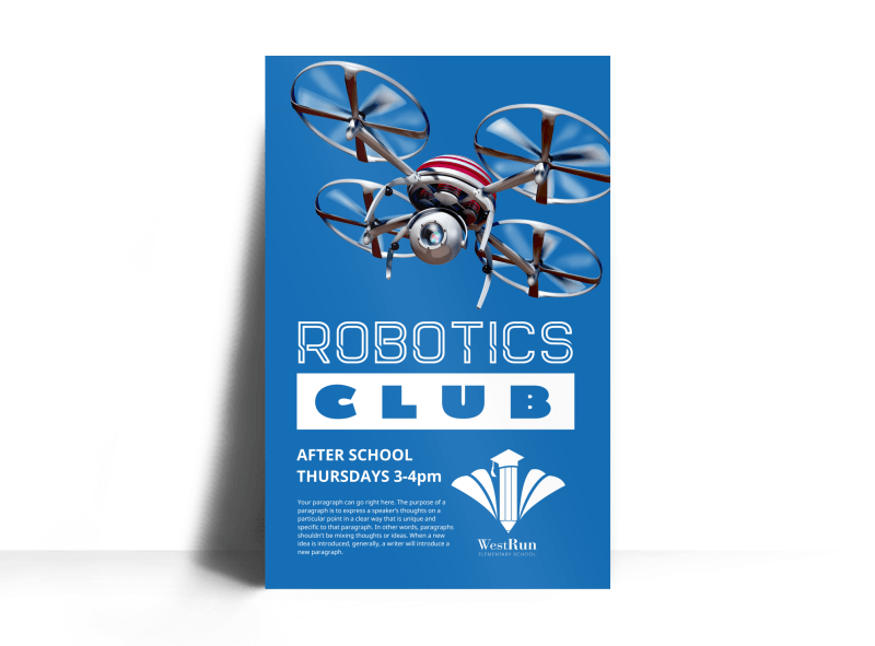 Robotics Club Poster Template Preview 1