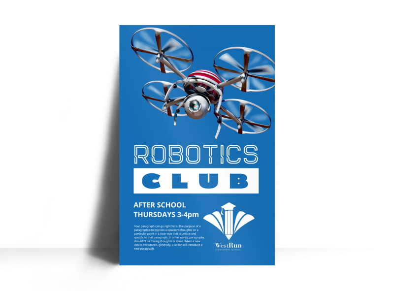 Robotics Club Poster Template Preview 3