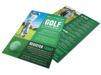 Golf Tournament Registration Flyer Template preview