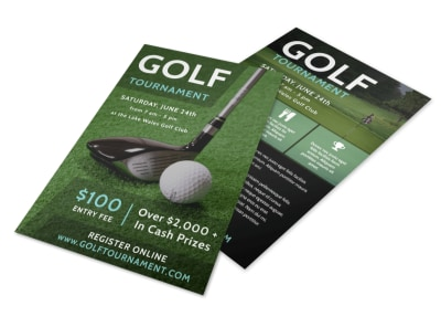 Fun Golf Tournament Flyer Template preview