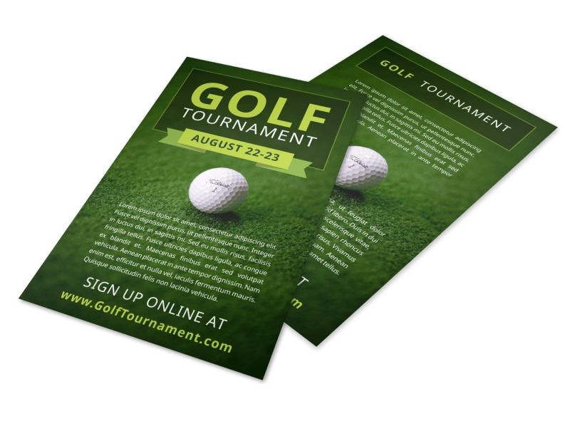 Golf Tournament Sign Up Flyer Template Preview 4