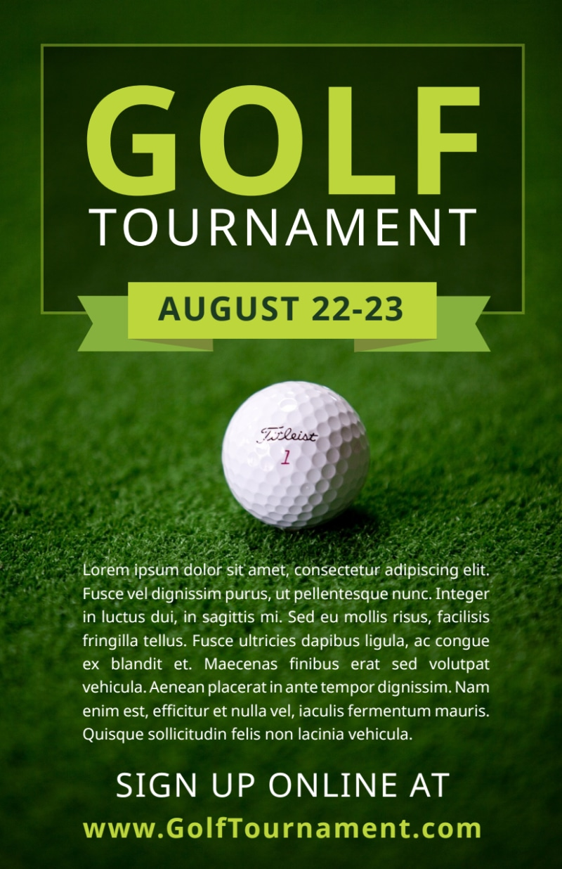 Golf Tournament Sign Up Flyer Template Preview 2