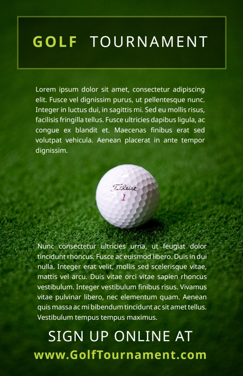 Golf Tournament Sign Up Flyer Template Preview 3