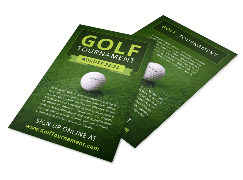 Golf Tournament Sign Up Flyer Template Preview 1
