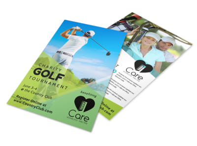 Golf Charity Tournament Flyer Template preview