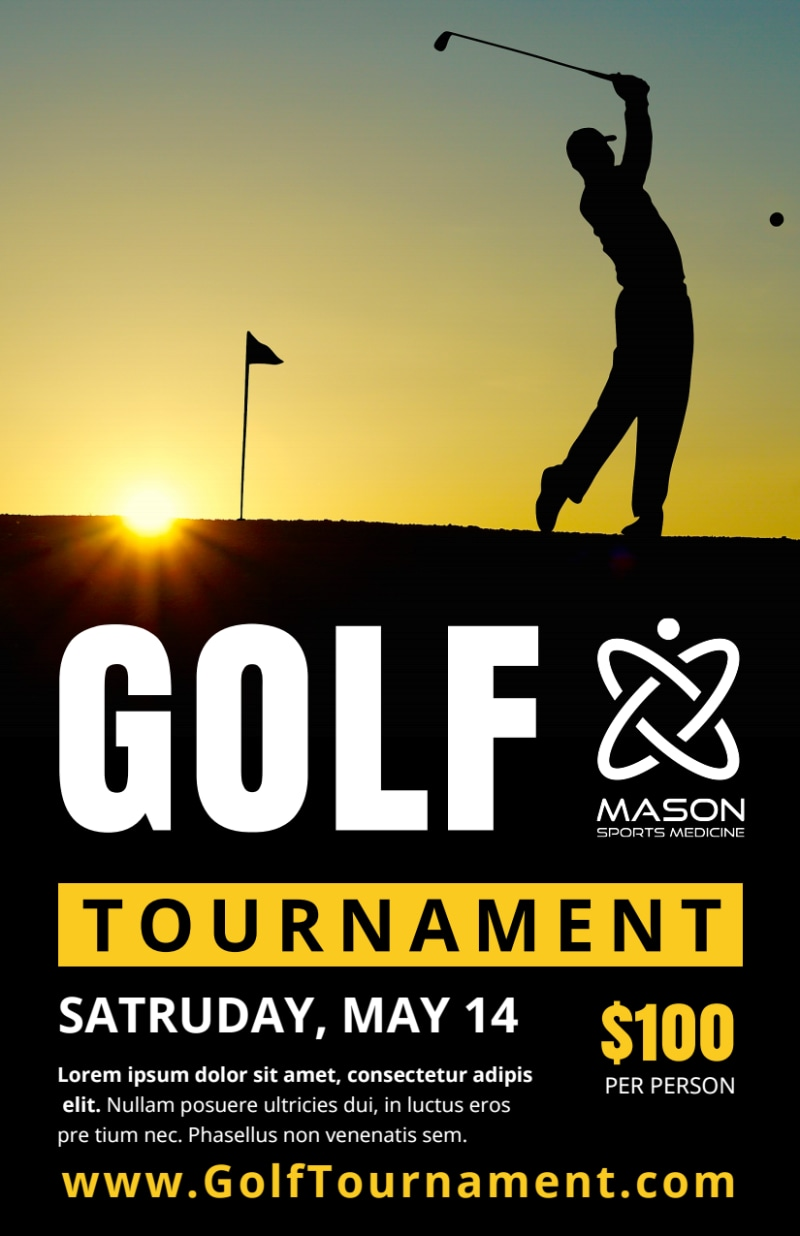 Awesome Golf Tournament Flyer Template Preview 2