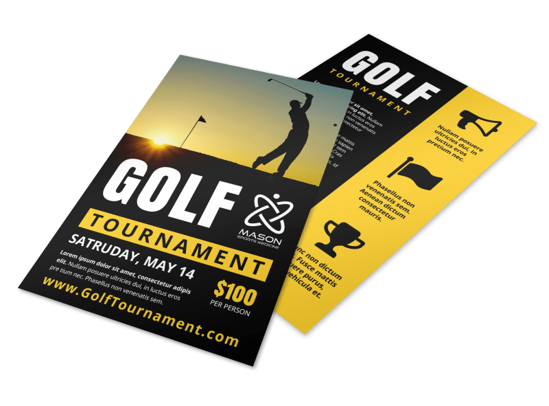Awesome Golf Tournament Flyer Template Preview 1