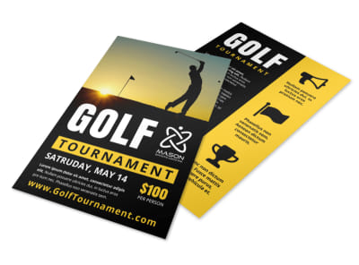 Awesome Golf Tournament Flyer Template preview