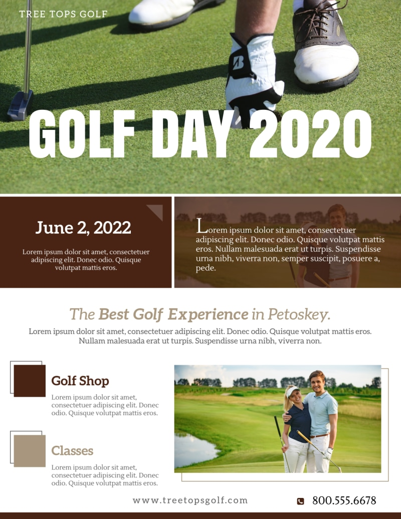 Golf Day Tournament Flyer Template Preview 2