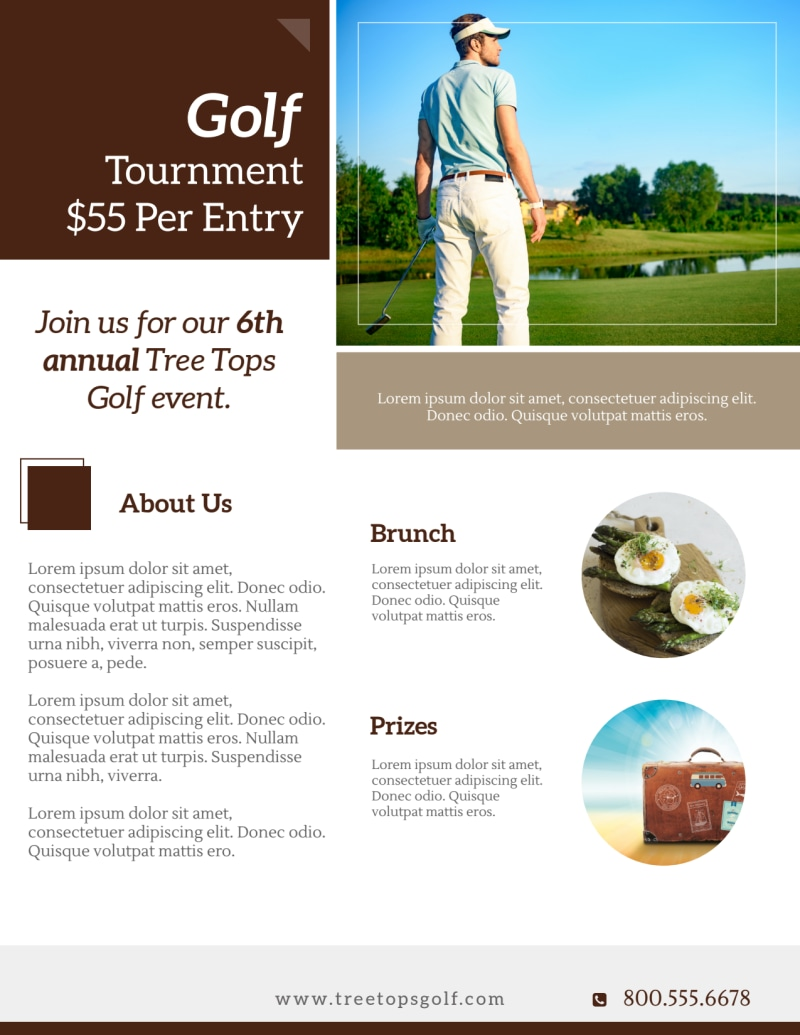 Golf Day Tournament Flyer Template Preview 3