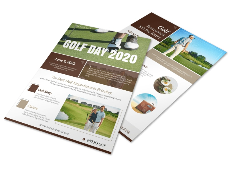 Golf Day Tournament Flyer Template Preview 4
