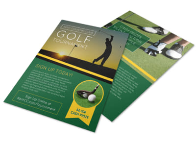 Golf Club Tournament Flyer Template preview
