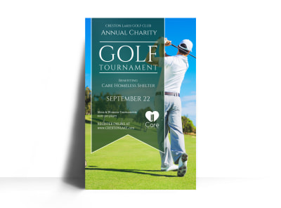Annual Golf Tournament Poster Template preview