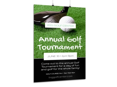 Annual Golf Poster Template