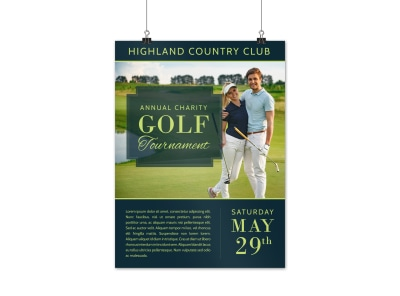 Country Club Golf Tournament Poster Template preview
