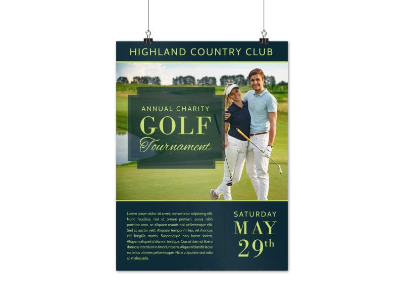 Country Club Golf Tournament Poster Template