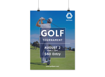 Golf Tournament Promotional Poster Template