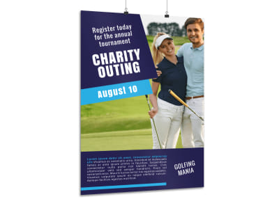 Golf Charity Outing Poster Template preview