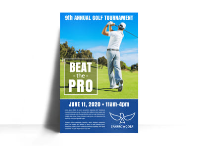 Pro Golf Tournament Poster Template preview
