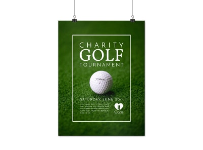 Charity Golf Tournament Poster Template preview