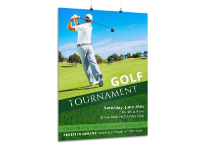 Beautiful Golf Tournament Poster Template