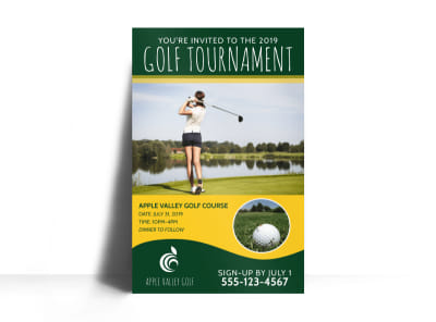 Golf Tournament Invite Poster Template preview
