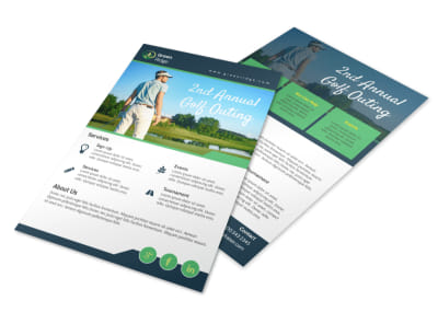 Annual Golf Outing Flyer Template preview