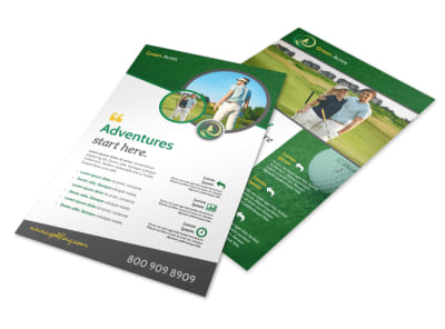 Green Golf Outing Flyer Template preview