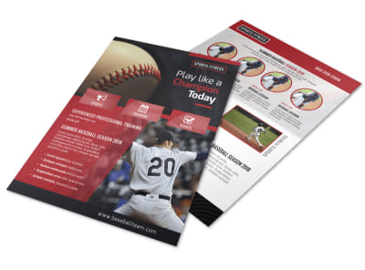 Baseball Sign Up Flyer Template preview