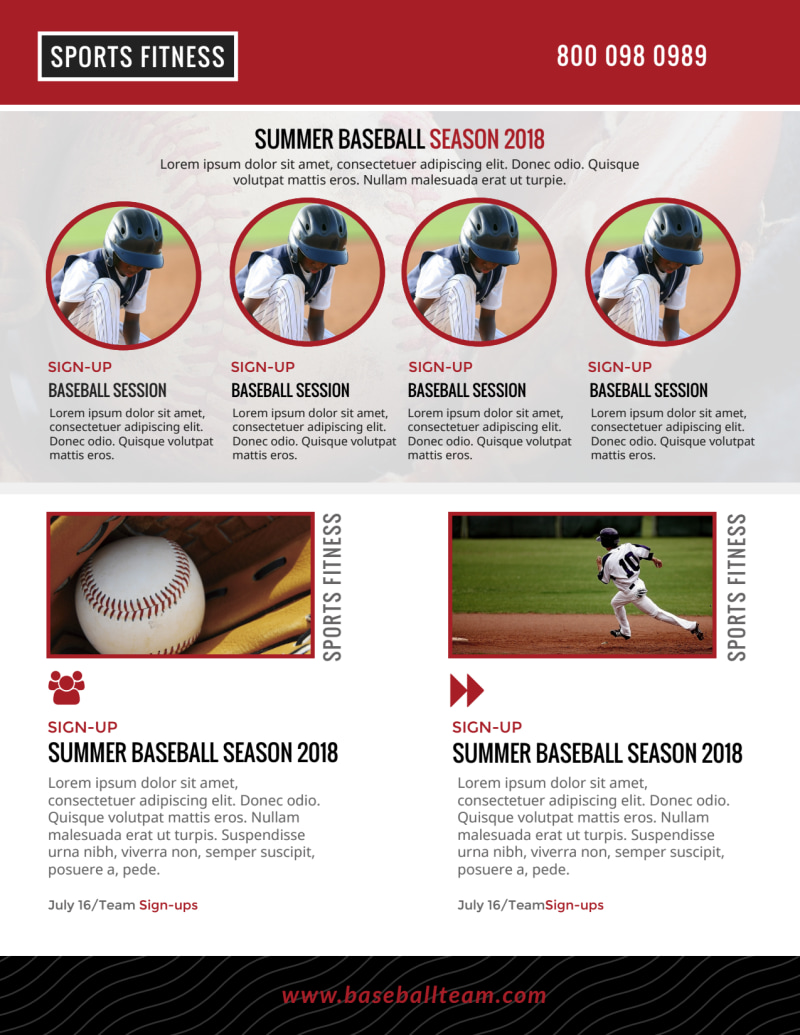 Baseball Sign Up Flyer Template Preview 3
