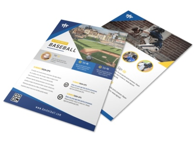 Baseball Team Flyer Template preview