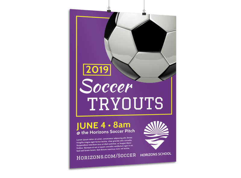 Soccer Tryouts Poster Template