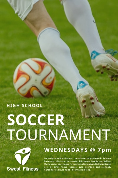 School Soccer Tournament Poster Template Preview 1
