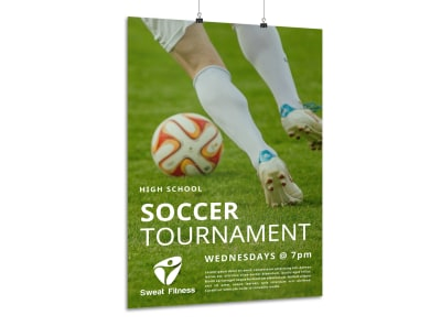 School Soccer Tournament Poster Template preview