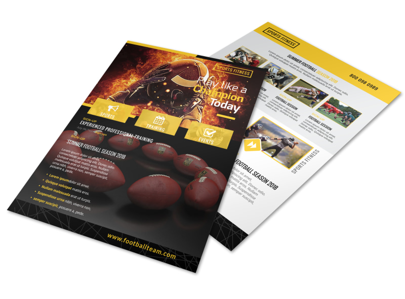 Yellow Football Flyer Template