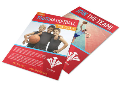 Youth Basketball Flyer Template preview