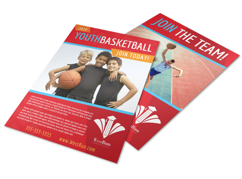 Youth Basketball Flyer Template Preview 4