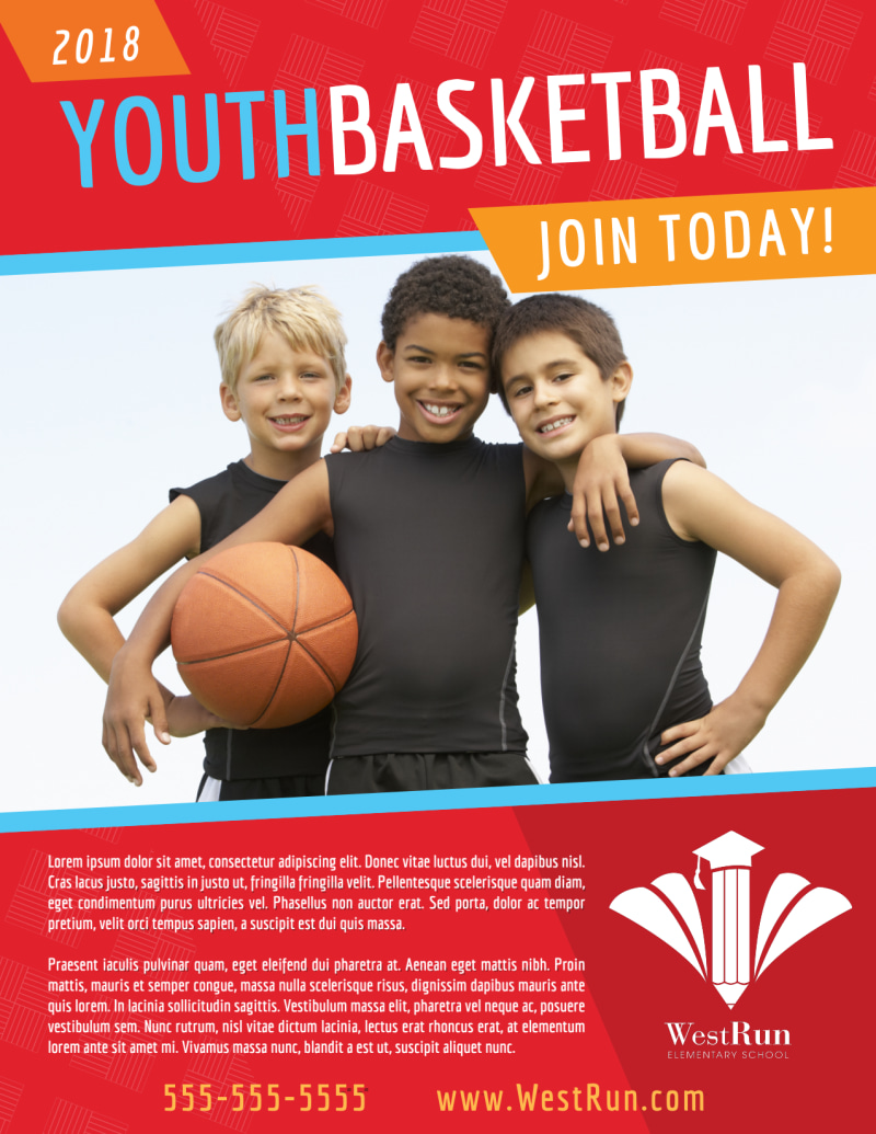 Youth Basketball Flyer Template Preview 2