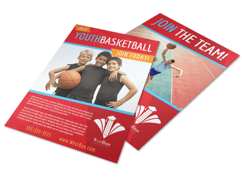Youth Basketball Flyer Template Preview 1