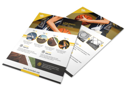 Basketball Sign-Up Flyer Template preview